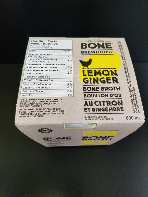 Bone Brewhouse- Bone Broth- Lemon Ginger