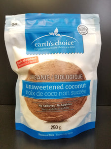 Earth's Choice- Unsweetened Coconut