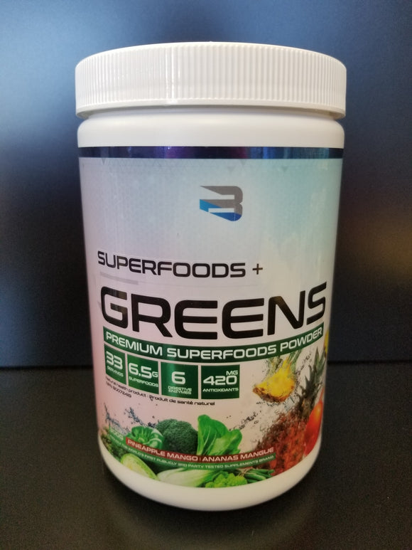 Believe Supplements- Superfoods Greens- Pinapple Mango