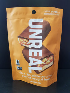 Unreal- Dark Chocolate Caramel Peanut Nougat Bars