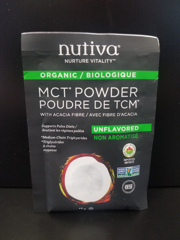 Nutiva- MCT Powder- Natural- Single Serving