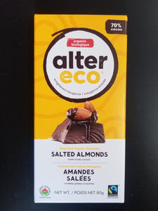 Alter Eco- Salted Almond Bar