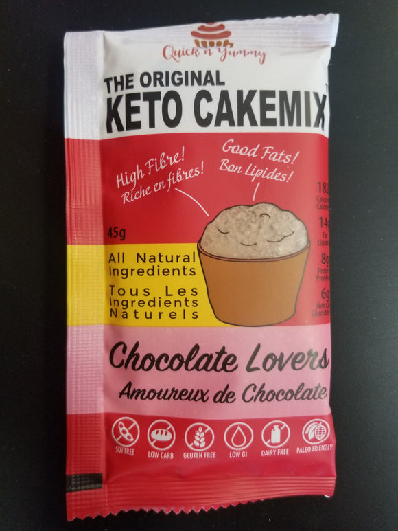 Quick N Yummy- Keto Cakemix-  Chocolate Lovers