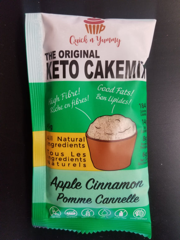 Quick N Yummy- Keto Cakemix- Apple Cinnamon