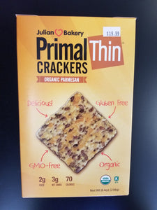 Julian Bakery- Primal Thin Crackers- Parmesan
