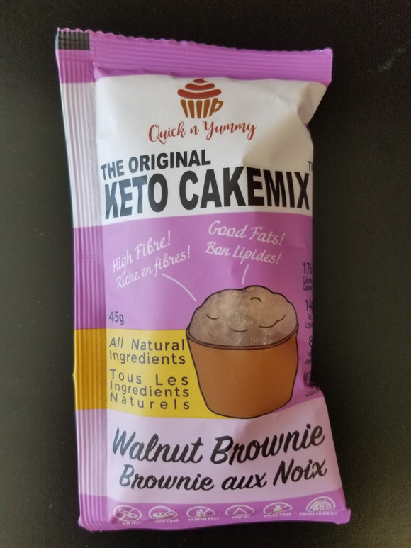 Quick N Yummy- Keto Cakemix-  Walnut Brownie