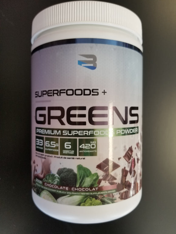 Believe Supplements- Superfoods Greens- Chocolate