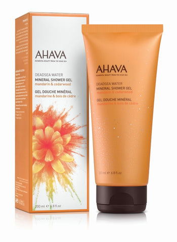 Ahava Mineral shower gel mandarin cedarwood - SkinEffects Zwolle