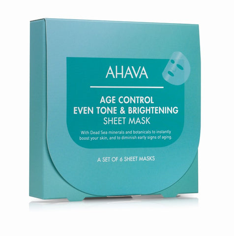 Ahava Age Control even tone & brightening sheet mask (afname per 15 masks) - SkinEffects Zwolle