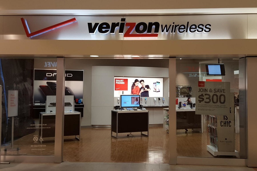 A picture of a Verizon Wireless store