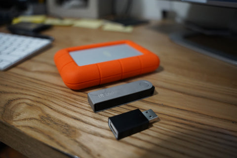 use external drives to back up data