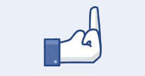 Facebook Middle Finger Instead of Like