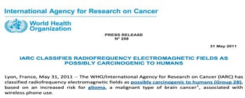 World health organization electromagnetic fields