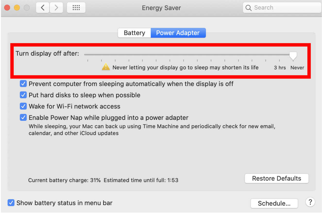 apple macbook laptop network settings when computer is closed