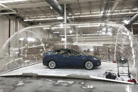 Tesla HEPA Filtration System Test Bubble