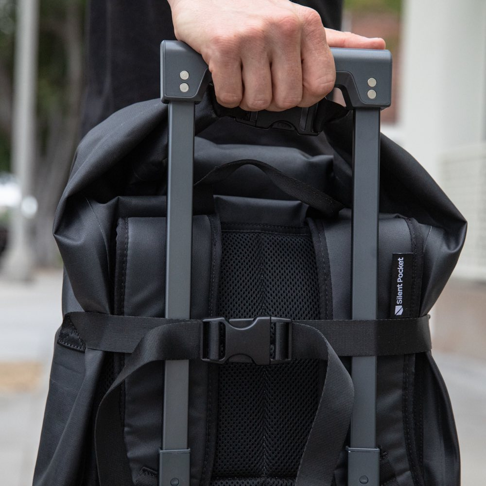 silent pocket and aleon signal blocking faraday collaboration with premium metal luggage