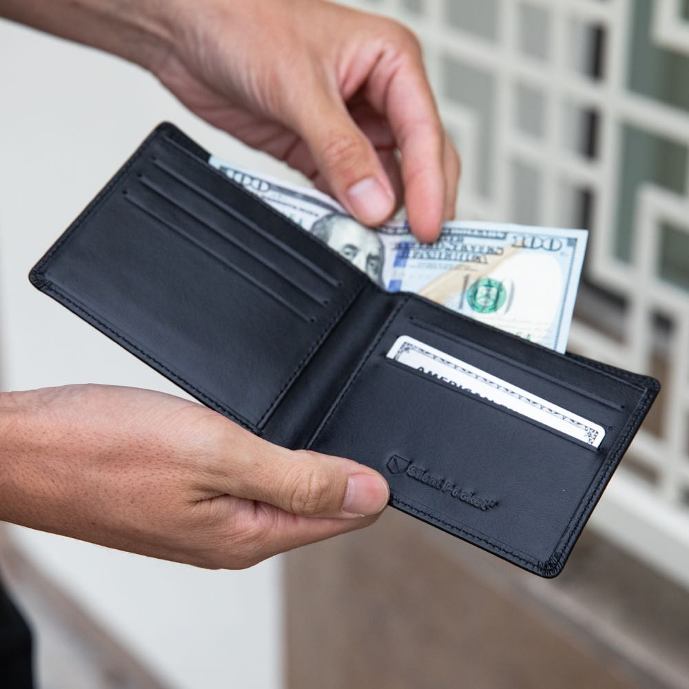 silent pocket rfid blocking bifold wallet with premium leather
