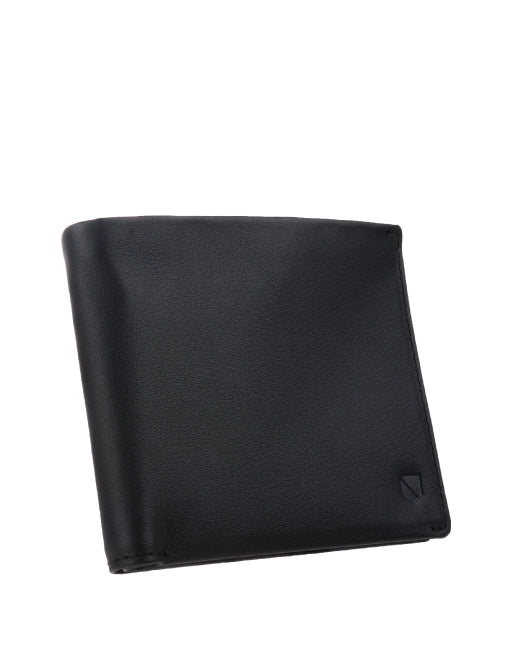 silent pocket rfid blocking overflap wallet black leather