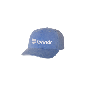 GRINDR PIGMENT-DYED EMBROIDERED LOGO HAT