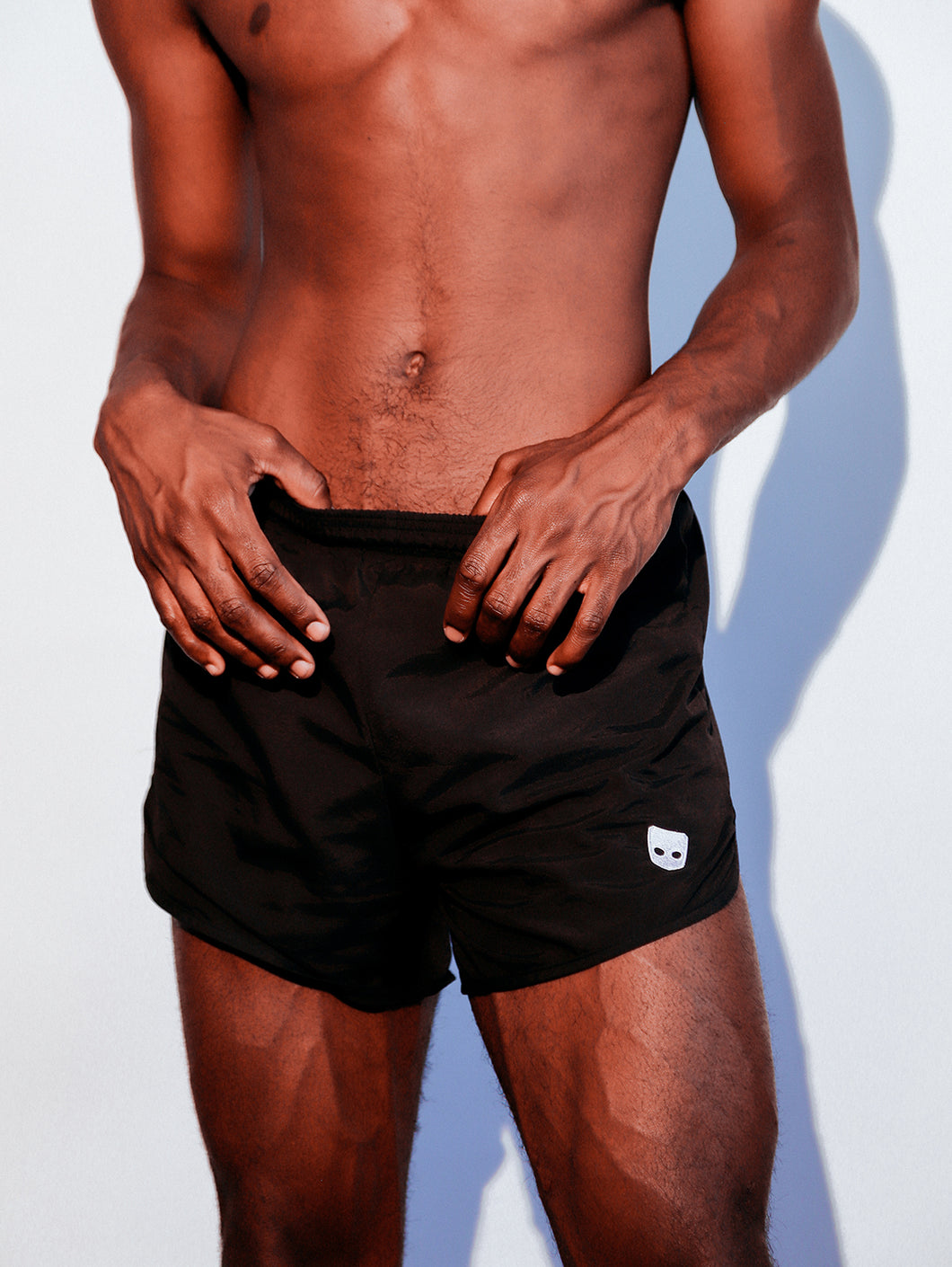 GRINDR EMBROIDERED LOGO SHORTS