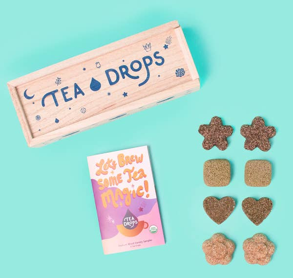 Tea - Classic Assortment Wooden Box - Tea Drops