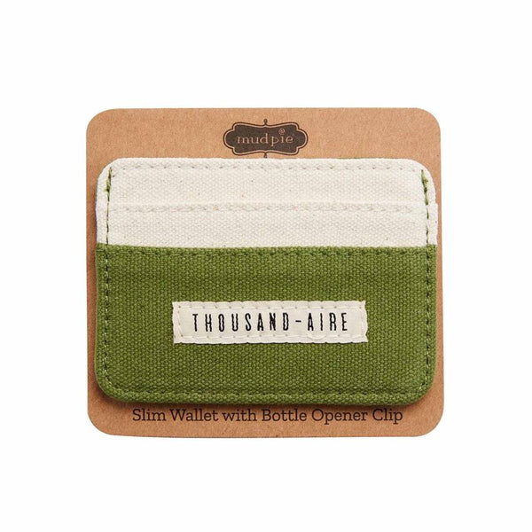 Thousand-aire Men's Slim Wallet with Bottle Opener Clip
