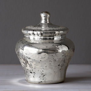 Mercury Glass Urn with Lid