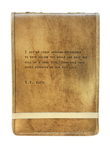 "E.B. White Large Leather JournalLARGE E.B. WHITE LEATHER JOURNAL - 7""X9.75"""