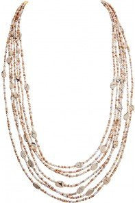 Gold Ivory Seed Bead Necklace