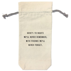 Here's to Nights Wine Bag