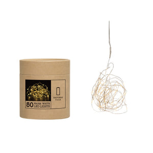 "200""L LED String Lights in Box, 50 Lights (Requires 3-AA Batteries)"