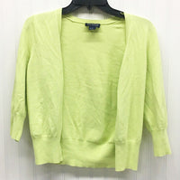Ann Taylor Ladies 3/4 Cardigan Apple Green Stretch Knit Size S