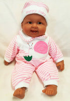 BERENGUER Laughing Happy Baby Pink Stripe
