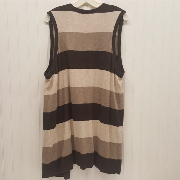 Gap Women's Striped Sleeveless Cardigan Sweater   Size: XXL