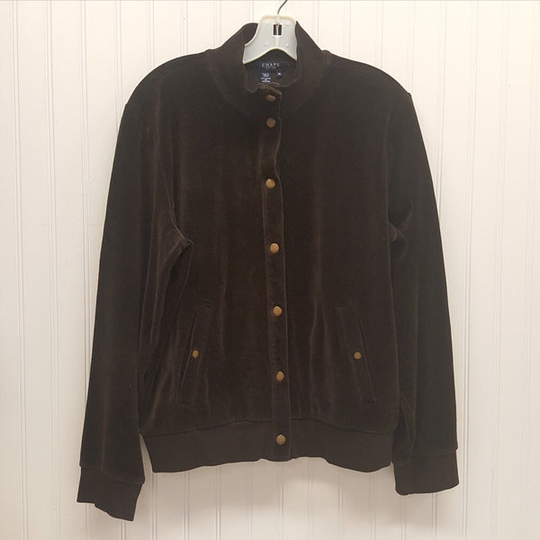 RALPH LAUREN Chaps Brown Velour Jacket  Size XL