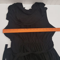 J.CREW Women's Layered Neckline Black Sleeveless Dress Size Small