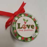Ganz LOVE One Another 12 piece coaster set, reversible