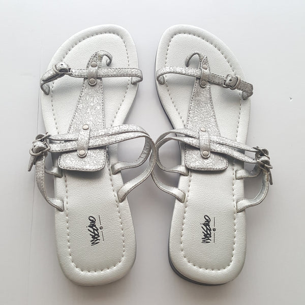 Mossimo Silver Sandals size 11