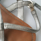 KELLY & KATIE silver strappy sandals - size 10