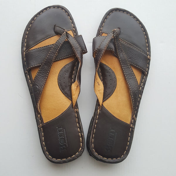 BORN hand crafted slipper sandals - size 9M