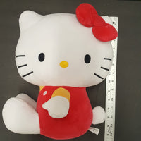 HELLO KITTY  red outfit sitting plush