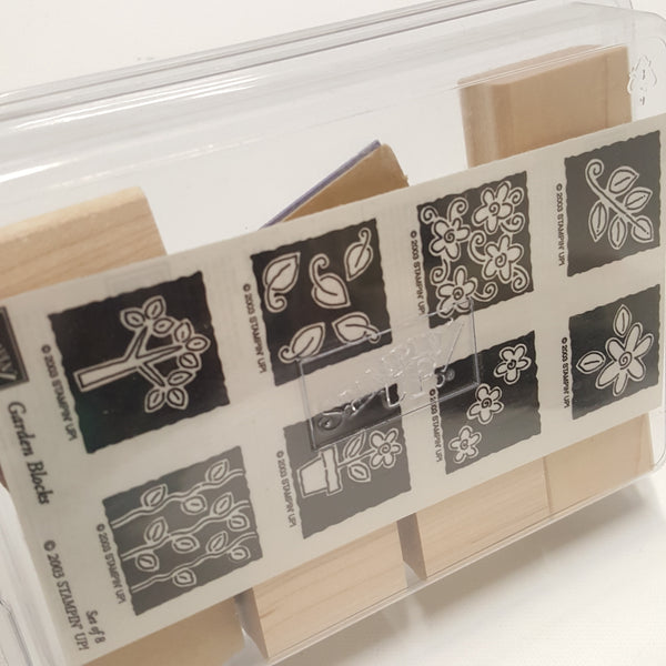 STAMPIN UP Rubber Stamps:  Garden Blocks 2003