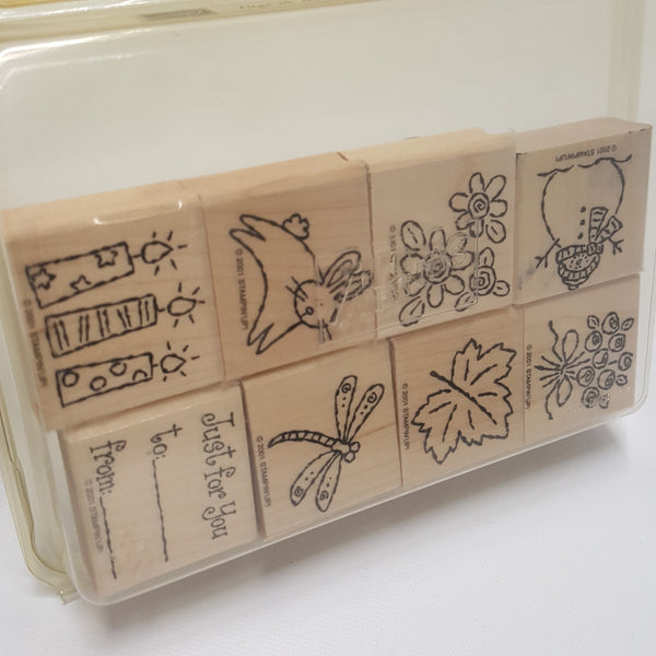 STAMPIN UP Rubber Stamps: Tags and More 2001