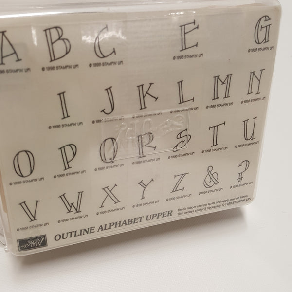 STAMPIN UP Rubber Stamps: Outline Alphabet Upper 1998