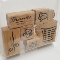 STAMPIN UP Rubber Stamps: Basket Of Blossoms  two-step  1999