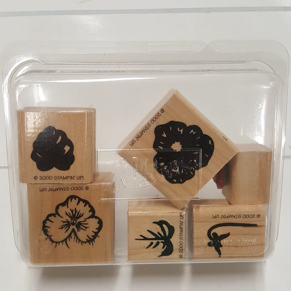 STAMPIN UP Rubber Stamps: Spring Pansy Definitely Decorative 2000