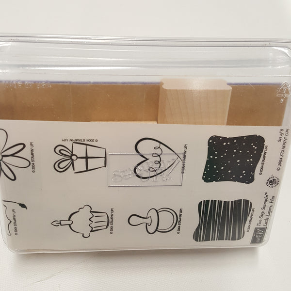 STAMPIN UP Rubber Stamps: Little Layers, Plus Two-Step Stampin 2004