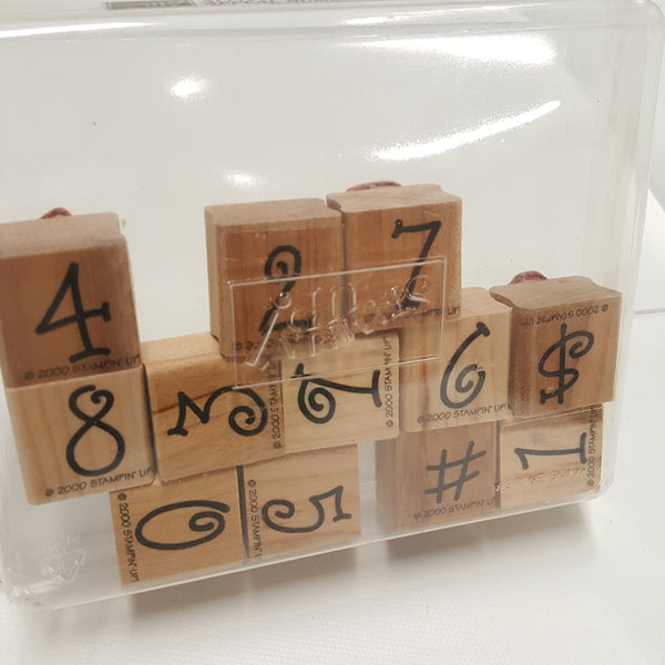 STAMPIN UP Rubber Stamps: Alphabet Appeal Numbers  2000
