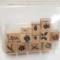 STAMPIN UP Rubber Stamps: Watercolor Minis Two-Step Stampin 2001