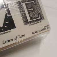 STAMPIN UP Rubber Stamps: Letters of LOVE 2002